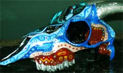 Painted Goat Skull