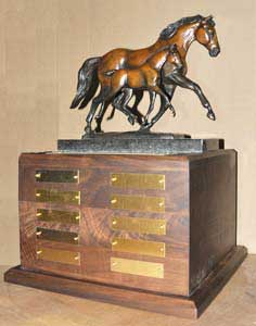 Texas Super Series Hunter Breeding Championship Perpetual Trophy