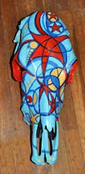 Red Star Cow Skull